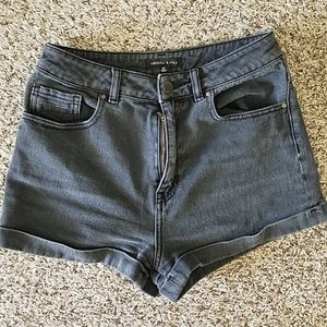 Kendall and Kylie black high waisted shorts